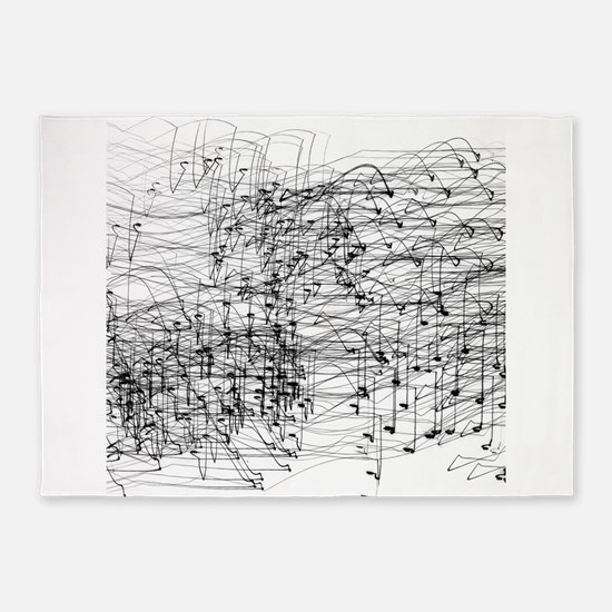 Staccato Music Sound Abstract 5'x7'Area Rug