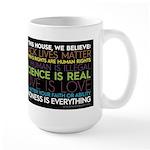 #kindnessiseverything Large Mug (black) Mugs