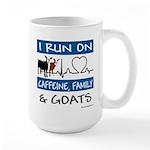 I Run on Goats! 15 oz Ceramic Large Mug