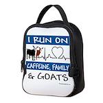 I Run On Caffeine, Goats & Neoprene Lunch Bag