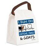 I Run on Caffeine, Goats & Family Canvas Lunch