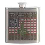 Free the leaf in all 50 States Flask