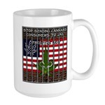 Free The Leaf In All 50 States Large Mugs