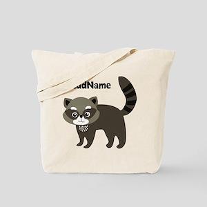 Personalized Name Mr. Raccoon Kid's Tote Bag