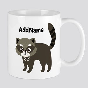 Personalized Name Mr. Raccoon Kid's Mug