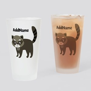 Personalized Name Mr. Raccoon Kid's Drinking Glass