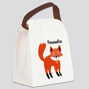 Fox Personalized Canvas Lunch Bag