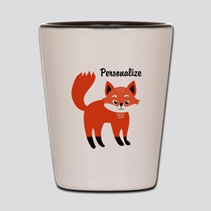 Fox Personalized Shot Glass