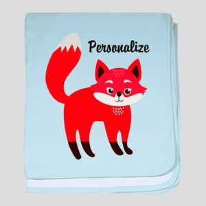 Fox Personalized baby blanket