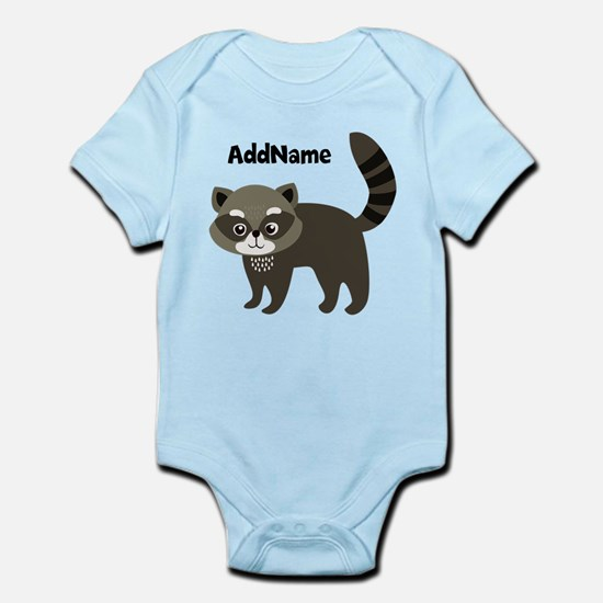Personalized Name Mr. Raccoon Kids Body Suit