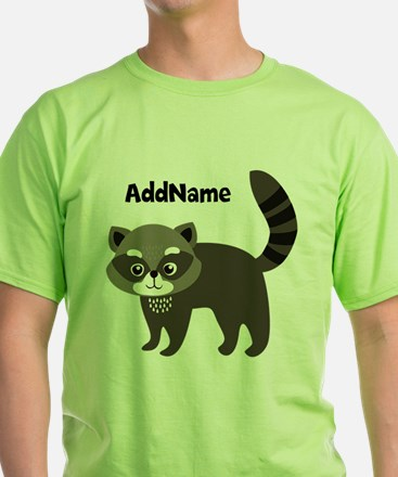 Personalized Name Mr. Raccoon Kids T-Shirt