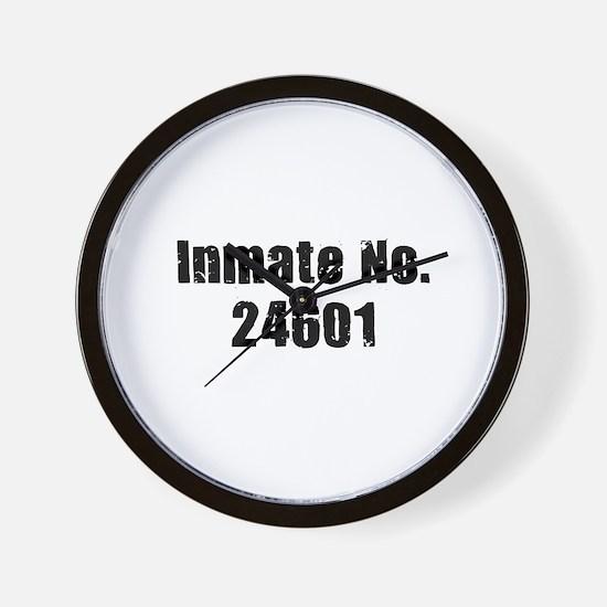 Inmate Number 24601 Wall Clock