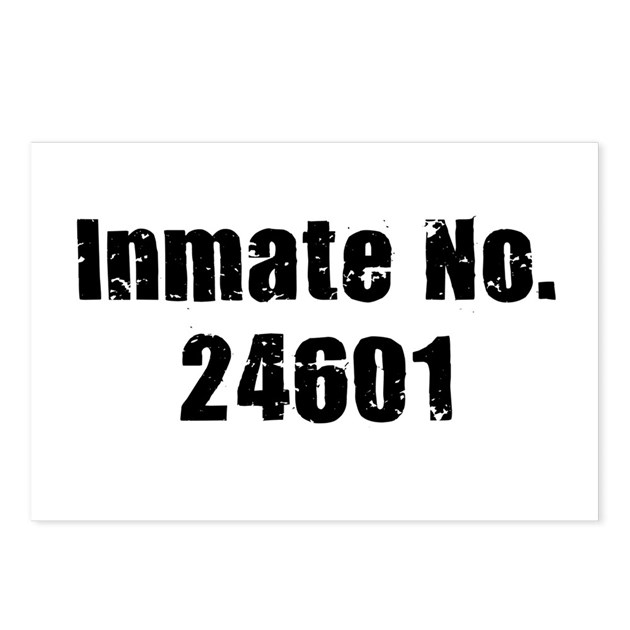 Inmate Number 24601 Postcards (Package of 8) by mindflakes