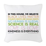 #kindnessiseverything Woven Throw Pillow