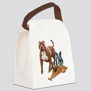The Dog Posse And Cat Canvas Lunch Bag