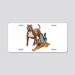 The Dog Posse And Cat Aluminum License Plate