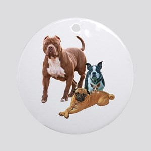 The Dog Posse And Cat Round Ornament