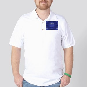 blue happy hannukah Golf Shirt
