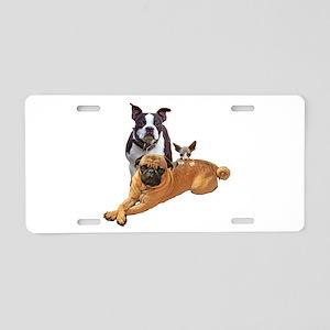 Pug Boston terrier cat Aluminum License Plate