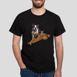 Pug Boston terrier cat Dark T-Shirt