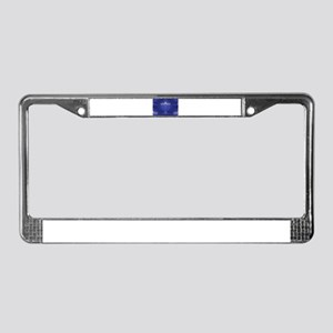 blue happy hannukah License Plate Frame