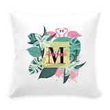 Flamingo Burlap Pillows