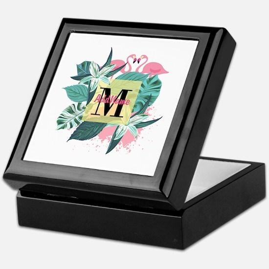 Personalized Flamingo Monogrammed Keepsake Box