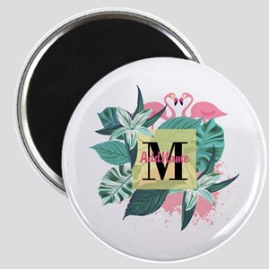 Personalized Flamingo Monogrammed Magnet