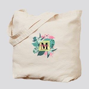 Personalized Flamingo Monogrammed Tote Bag