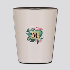 Personalized Flamingo Monogrammed Shot Glass