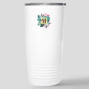 Personalized Flamingo M Stainless Steel Travel Mug