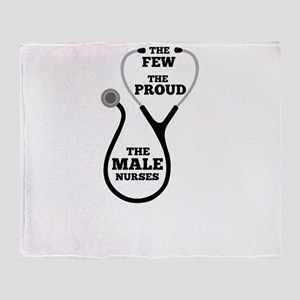 Funny Male Nurse Throw Blanket