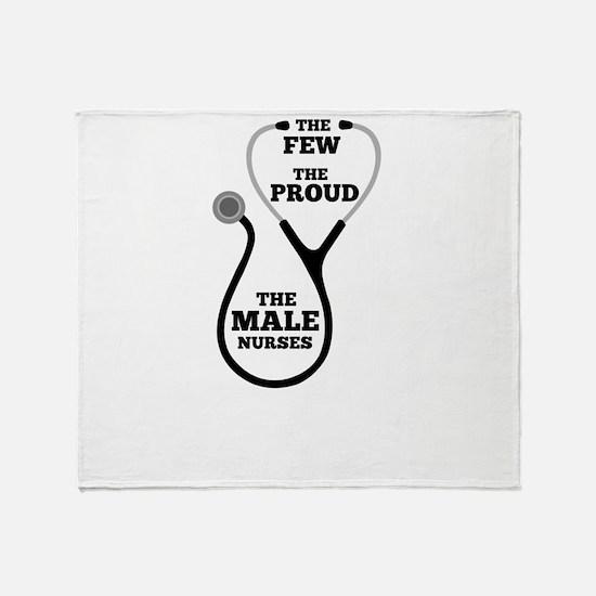 Funny Male Nurse Throw Blanket