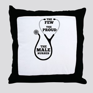 Funny Male Nurse Throw Pillow