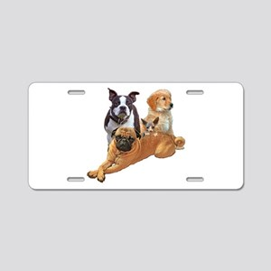 Dog posse with a hairless c Aluminum License Plate