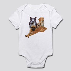 Dog posse with a hairless cat Infant Bodysuit