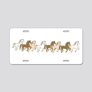 Pretty Ponies Aluminum License Plate