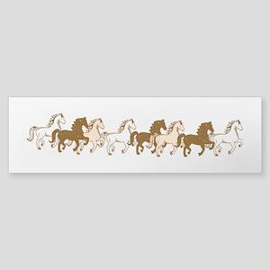 Pretty Ponies Bumper Sticker