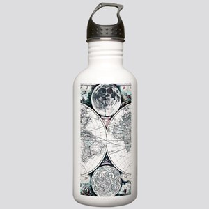 Antique World Map Water Bottle