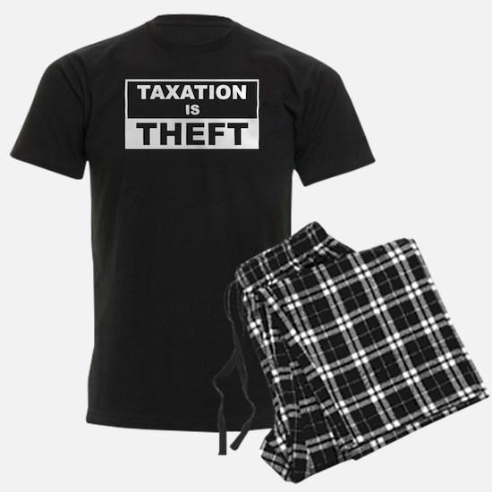 taxationistheftonblack Pajamas
