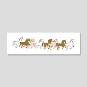 Pretty Ponies Car Magnet 10 x 3