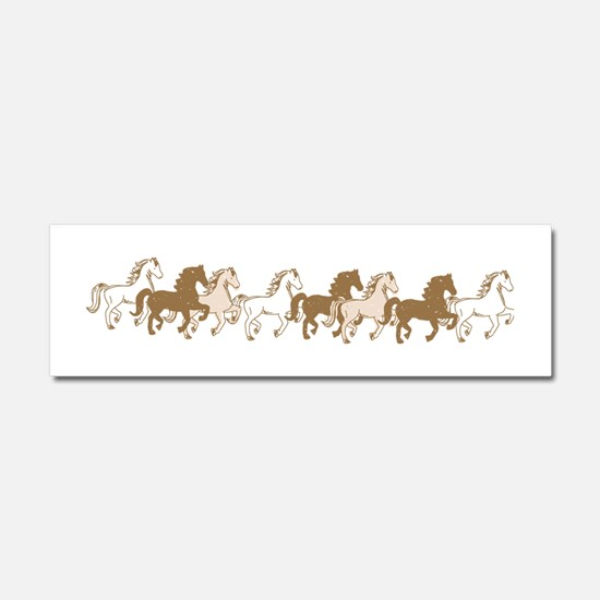 Pretty Ponies Car Magnet 10 x 3