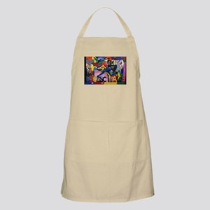 Colorful Sonic Man Graffiti Apron