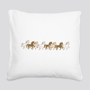 Pretty Ponies Square Canvas Pillow