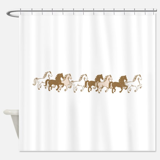 Pretty Ponies Shower Curtain