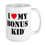 I Love My Bonus Kid Mugs