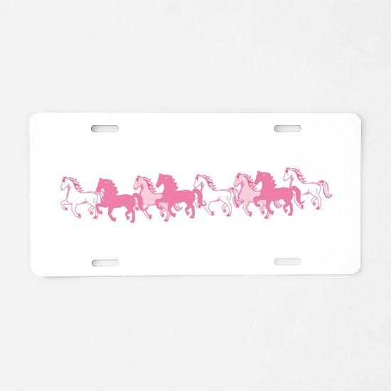 Pretty Ponies Aluminum License Plate