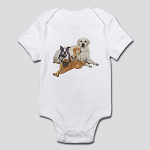 Dog posse with lab Infant Bodysuit