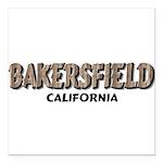 Bakersfield California Square Car Magnet 3