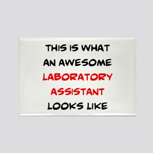 awesome laboratory assistant Rectangle Magnet